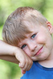 Young boy summer portrait Stock Images