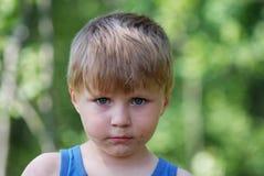 Young boy summer portrait Stock Photos