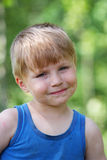 Young boy summer portrait Royalty Free Stock Photo