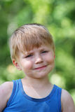 Young boy summer portrait Royalty Free Stock Images