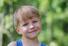 Young boy summer portrait Stock Image