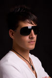 Young boy with sunglasses Stock Photos