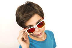 Young boy with sunglasses Stock Photography