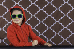 Young boy with sunglasses Royalty Free Stock Photography