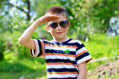 Young boy in sunglasses Royalty Free Stock Photo