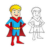 Young Boy Super Hero Stock Photo