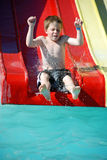 Young Boy on Super Tube