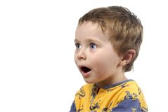 Young boy surprised Royalty Free Stock Photography