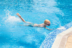 Young boy swimming Royalty Free Stock Image
