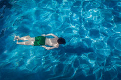 Young Boy Underwater Pool Royalty Free Stock Photography
