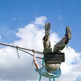 Young boy on a swing Stock Image