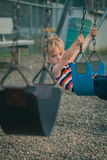 Young Boy on Swing Stock Photography