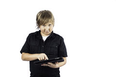 Young Boy on Tablet PC Royalty Free Stock Image