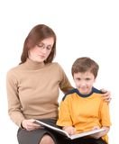 Young boy with teacher Royalty Free Stock Photos