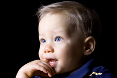 Young boy teething Royalty Free Stock Photo