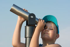 Young boy and telescope Stock Photography