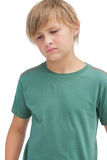 Young boy thinking about something Stock Photos