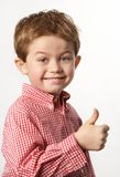 Young boy with thumb up Stock Photos
