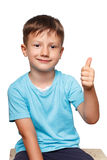 Young boy thumb up Stock Photography
