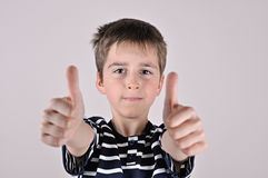 Young boy with thumbs up Stock Photos