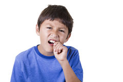 Young boy with toothache Stock Image