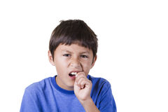 Young boy with toothache Royalty Free Stock Photo