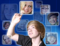 Young boy with touch screen Royalty Free Stock Images