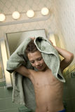 Young Boy with Towel Royalty Free Stock Images