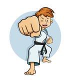 Young Boy Training Karate Royalty Free Stock Photos