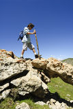 Young Boy Trekking Stock Images