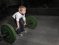 Determined Young Boy Stock Photo