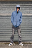 Young boy in urban background Stock Photos