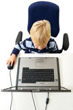Young Boy Using Laptop Stock Photo