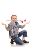 Young boy, valentine love royalty free stock images