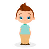 Young Boy. Vector illustration eps 10  on white background. Flat cartoon style. Stock Photography