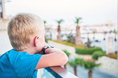 Young boy waiting Stock Photography