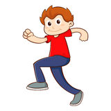 Young Boy Walking With Confident Royalty Free Stock Image