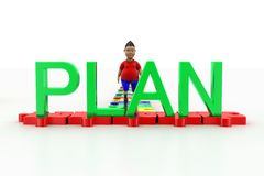 Young Boy Walking Towards Plan Text Stock Photo
