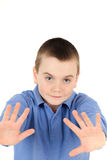 Young boy waving Royalty Free Stock Image