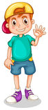 A young boy waving Royalty Free Stock Photo