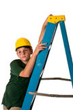 Young boy - future construction worker Stock Photography