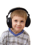 Young boy wearing headphones Royalty Free Stock Photo