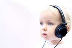 Young boy wearing headphones II Royalty Free Stock Photo