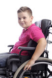 Young boy in wheelchair Stock Photos