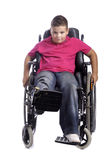 Young boy in wheelchair Royalty Free Stock Photos