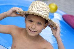 Young Boy With Hat Stock Photos