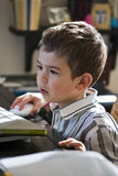 Young Boy Working On Computer. Stock Photography