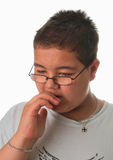Young boy worried royalty free stock images
