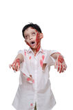 Young boy in zombie make up and costume Royalty Free Stock Photo