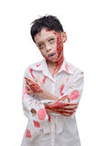 Young boy in zombie make up and costume Royalty Free Stock Photos